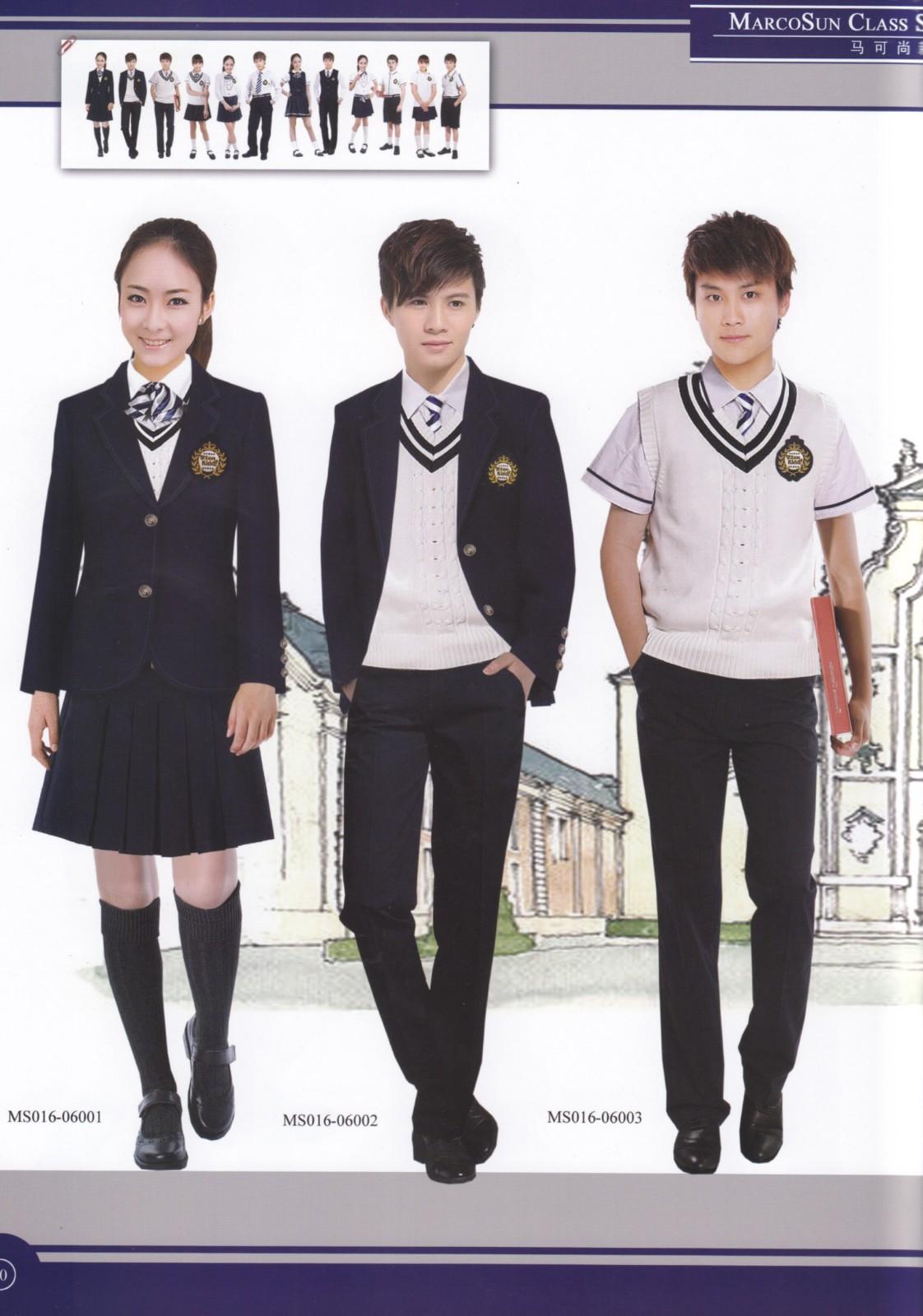 中学生秋季校服设计图展示图片